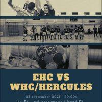 komende zaterdag  23-9-2021  EHC/HS1 - WHC/Hercules